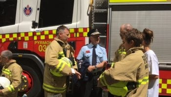 Fire Fighters Climb for Motor Neurone Disease